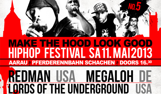 MAKE THE HOOD LOOK GOOD FESTIVAL: REDMAN (USA) LORDS OF THE UNDERGROUND (USA) MEGALOH (D) U.V.M.